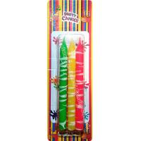 Cheap Creative White Cream Shaped Birthday Candles Colorful Longer Burn Time for sale