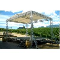 Quality Silver DJ Aluminum Box Truss , Hard Welding Outdoor Concert Stage Lighting Truss wholesale