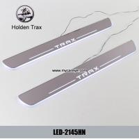 Cheap Holden Trax Car accessory stainless steel scuff plate door sill plate lights LED for sale