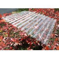 Cheap Clear Plastic Corrugated Polycarbonate Sheets 0.8 Mm-3.0mm Weather Resistance for sale