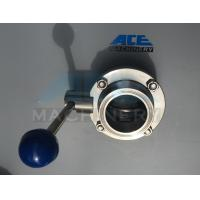 Cheap Stainless Steel Sanitary Butterfly Valve with Weld/Nut End (ACE-DF-2D) for sale