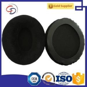 Cheap Dongguan OEM mnfr. Replacement Velvet Earpad for little Momentum On Ear Headphone in Claret Red,Red,Gray, Black for sale