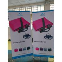 """Cheap Adjustable X Stand Banners Pvc Film With Grommets Long Life Printed  32"""" X 70"""" for sale"""