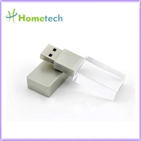 China 32GB New Crystal Transparent Rectangle Genuine USB Flash Drive 3.0 Wedding Gift Pendrive,Silver on sale