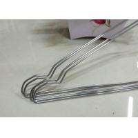 Cheap Beautiful Plastic Coated Wire Hangers , White Metal Coat Hangers For Laundry Room for sale