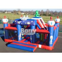 Cheap Outdoor Toys Giant Robot Theme Inflatable Playground With Obstacle And Slide for sale