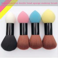 Cheap Double Head Makeup Foundation Brush Powder Puff  Synthetic Hair and Sponge Hair Material for sale