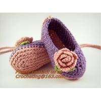 Cheap Crochet Baby, Booties, Socks Knitted, Newborn Loafers Shoes Plain Infant Slippers Footwea for sale