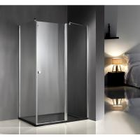 Cheap 1200x800x6mm Clear Glass Shower Enclosures With Tray , Glass Bathroom Enclosures for sale