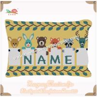 ZONGRONG HANDICRAFTS001 KIDS ANIMAL NEEDLEPOINT PILLOW with certificate of Needlepoint Pillows ...