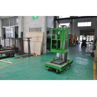 Cheap 8m Platform Height Single Mast Aluminum Aerial Work Platform Green Color Shopping Mall Using with AC Power Supply wholesale