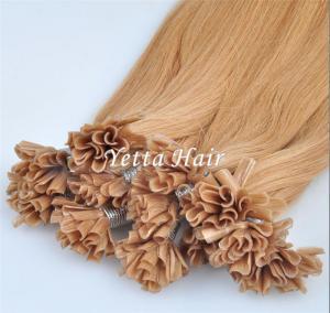 Cheap Italian Stick U Tip Pre Bonded Hair Extensions No Shedding No Tangle wholesale