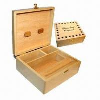 Cheap Square wooden box, natural color for sale