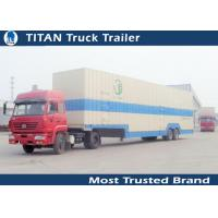 Cheap Dual Axle Enclosed 8 - 24 Cars auto transport trailers , heavy equipment trailer for sale
