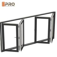 Cheap Soundproof Aluminum Bifold Windows With Retractable Or Invisible Fly Screen for sale