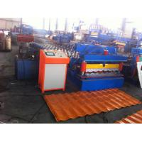 China Hydraulic Control Glazed Tile Roll Forming Machine For Construction Metal Making on sale