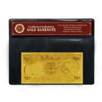 Quality Gold Plated Craft Gift Iraq 250 Dinars 24K Gold Banknote , Nice Decoration Article wholesale
