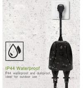 Cheap MXQ tuya smart alexa electrical outdoor smart plug socket usa standard with waterproof work in garden for sale