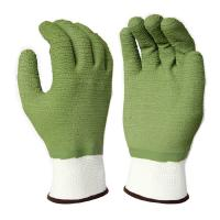 Cheap L2013 13Gauge White Polyester Liner, with Green Latex Fully Coating, Waved Finished for sale