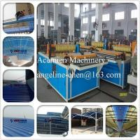 Cheap PVC colorsteel corrugated composite roof tile/roofing sheet making machine production line for sale