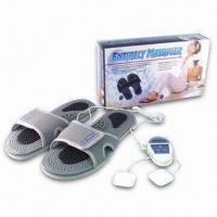 Cheap Massage Slippers with One CR2032 Battery and Two Electrode Pads for sale