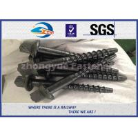 Cheap Material 45# Railway Custom Railroad Track Spikes , Threaded Screw Spike for sale