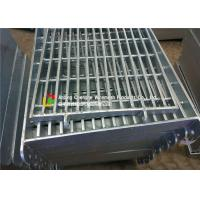 Cheap Highways Heavy Duty Steel Grating Silver Color Electro - Polished 600 Mm Width for sale