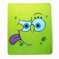 Cheap Mouse Pad in Various Colors, Designs with Silkscreen Printing, Made of EVA and PVC for sale