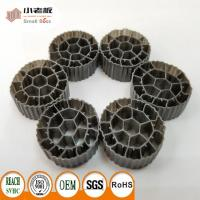 Cheap PE06 MBBR Filter Media With Balck Color And  Virgin HDPE Material For 25*12mm Size for sale