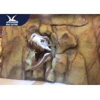 Buy cheap Theme Park Dinosaur Fossil Replicas , 1.5M Mounted T rex Dinosaur Head On Wall For Indoor Exhibition from wholesalers