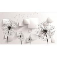 Dandelion 3D Bamboo Wall Panels Modern Decorative Wall Boards 34mm Thickness