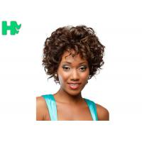 Cheap Machine Made No Lace Full Head Loose Wave High Grade Short Synthetic Hair Wig for sale