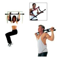 Exercise Bands Bar: Doorway Pull Up Bar & 5 Resistance Bands With Certificate