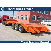 Cheap 3 Axle 60 tons low bed heavy duty equipment trailers for construction machinery for sale