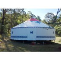 Cheap 8m Diameter Mongolian Traditional Round Yurt Tent House Rainproof And Windproof wholesale