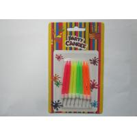 Cheap Customized Fluorescence Spiral Birthday Candles 6CM Height for Kids Party for sale