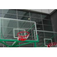 "Cheap Inground Basketball Hoops 54"" Tempered Glass Backboard / Glass Basketball Goals for sale"