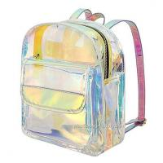 Cheap Young Lady Shiny Hologram Transparent Shoulder Bag Girl Makeup Organizer and Travel Bag for sale