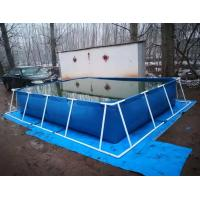 Cheap BGO 4M * 3M * 0.8M Rectangle Shape Tarpaulin Fish Tank Steel Frame With Liner for sale