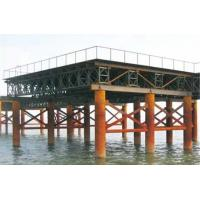 Cheap Movable Modular Military Floating Bridge Prefabricated Steel Truss Bridge for sale