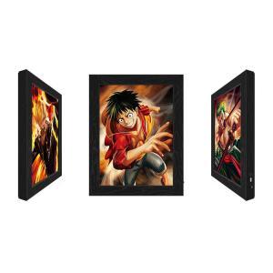 Cheap Lenticular Flip Change Anime 3D Poster,3D Poster Frame LED Light Box for sale