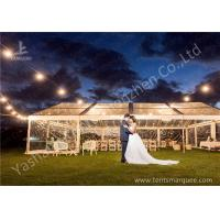 Cheap Out side Grassland Clear Top Luxury Wedding Tents High Pressed Aluminum String Lights wholesale