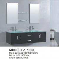 Cheap Modern bathroom vanity sink basin cabinet set for sale