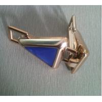 Cheap Fashion blue and gold ABS Cloth Belt Buckle , 7cm cool belt buckles for sale