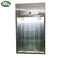 Cheap Stainless Steel Laminar Air Flow System Sampling Booth With Antistatic Curtain Door for sale