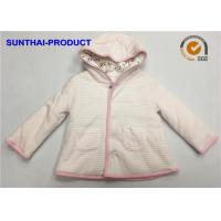Cheap Trendy Toddler Hooded Jacket , 100% Polyester 3 Layers Baby Girl Hooded Jacket for sale