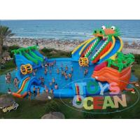 Cheap Dragon Huge Adults Inflatable Water Park Slides For Swimming Pool wholesale