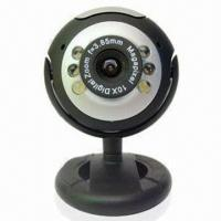 Quality No Driver PC Webcam with High-qualified CMOS Supports USB2.0 and Compatible, wholesale