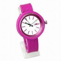 Cheap Promotional Silicone Watch, Customized Logos are Accepted for sale