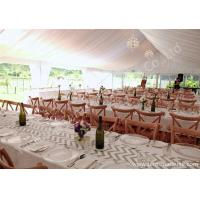 Cheap White Lining Adored Aluminum Framed Luxury Wedding Tents , Beach Wedding Marquee for sale